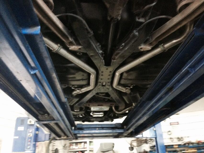 Under Exhaust View Car