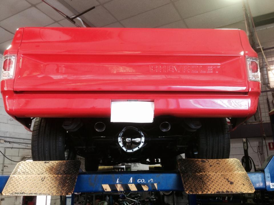 Red Chevrolet Pickup