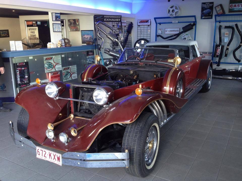 Vintage Brown Car