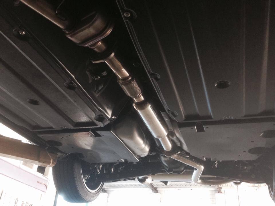 Straight Exhaust Under Car