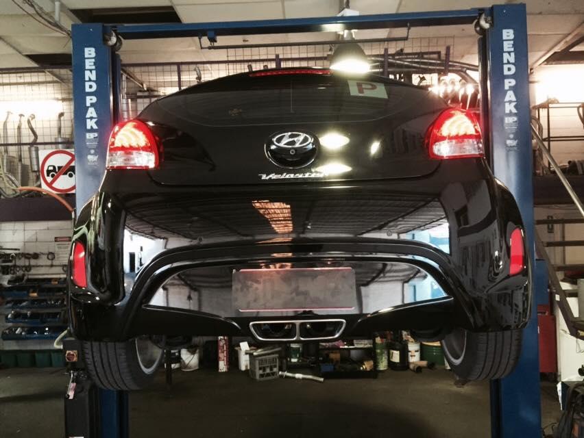 Hyundai Car Repair Back View