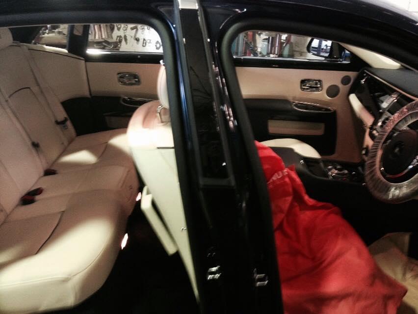 Inside Luxury Car View