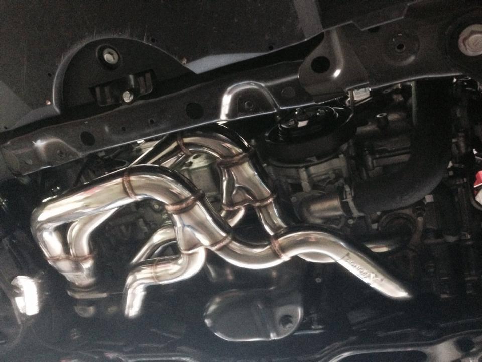 Exhaust Tubes Under Engine